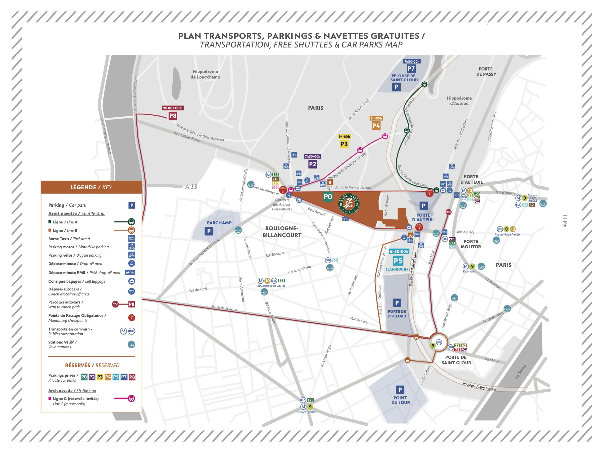 Paris Subway Map Zone 2018.Access To The Stadium Roland Garros The 2020 Roland Garros