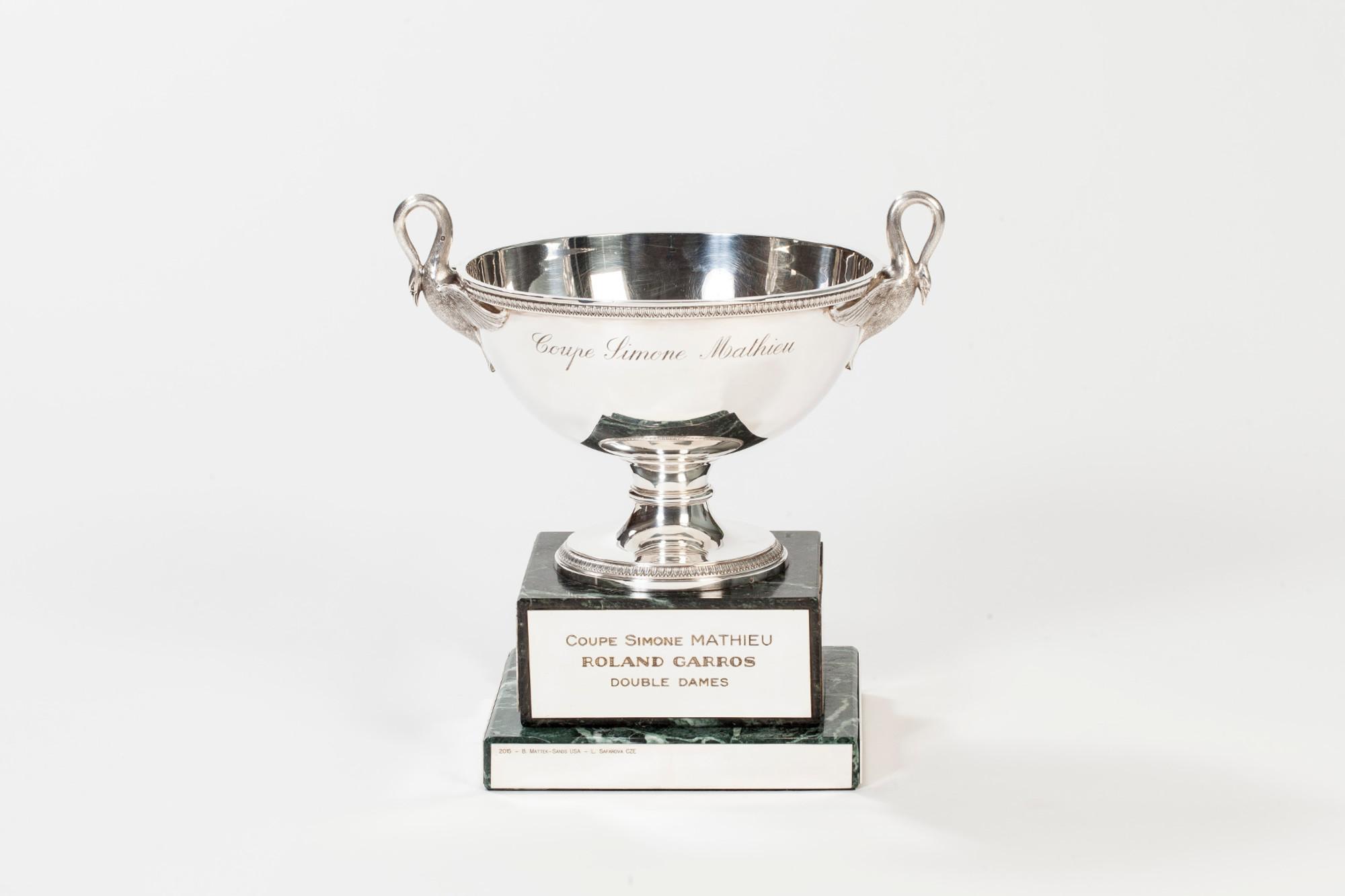 coupe Simonne-Mathieu double dames Roland-Garros trophée / Simonne Mathieu's cup women's doubles Roland-Garros trophy.