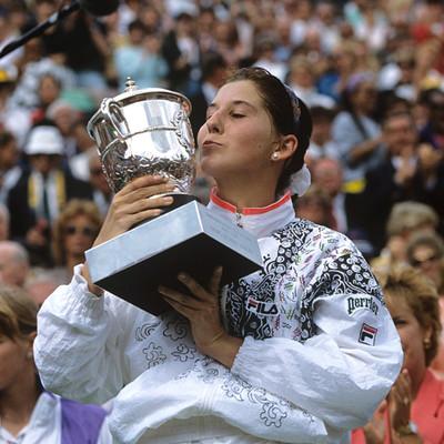 Monica Seles Roland-Garros 1992 champ.