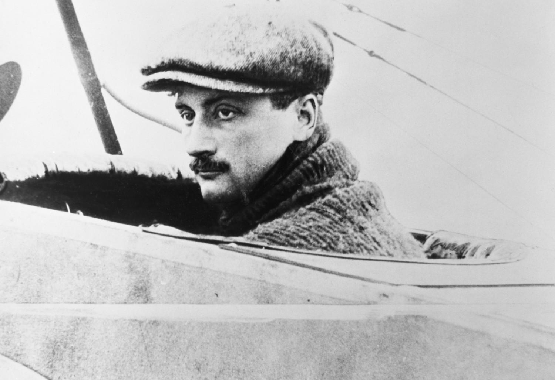 Roland Garros -Poză în avion