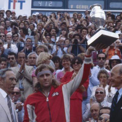Björn Borg champion Roland-Garros 1980.