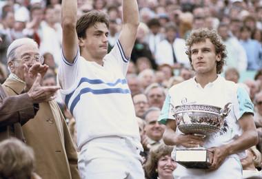 Henri Leconte et Mats Wilander - Roland-Garros 1988