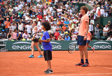 Enfants de Roland-Garros 2018 Zverev Halep