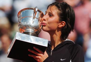 Anastasia Myskina Roland-Garros 2004 champ French Open.
