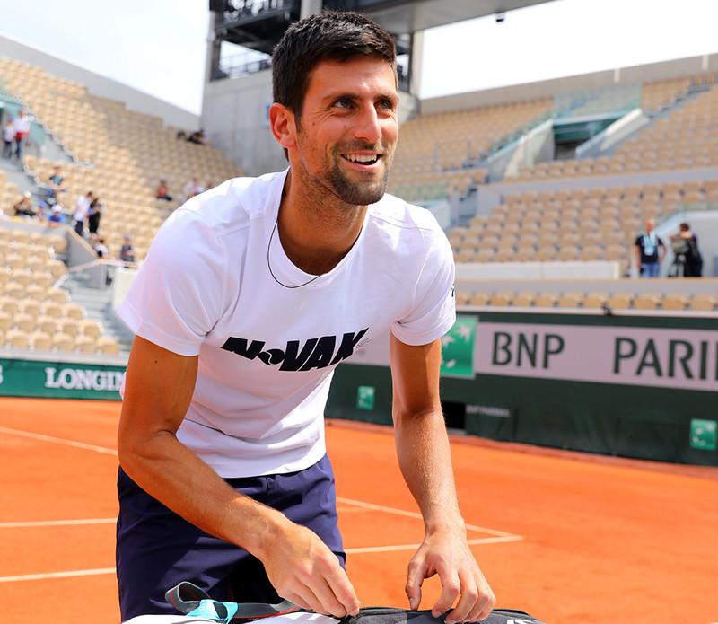 Roland-Garros, Novak Djokovic, Roland-Garros 2018, entraînement, practice
