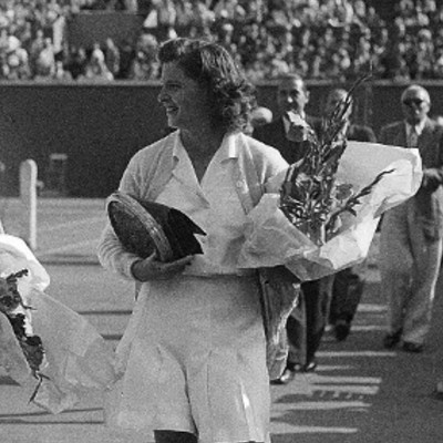 Margaret Osborne duPont Roland-Garros 1946.