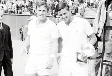 Tony Roche et Roy Emerson - Roland-Garros 1967
