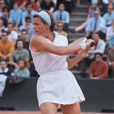 Margaret Smith Court Roland-Garros 1969.