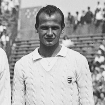 Jozsef Asboth Eric Sturgess Roland-Garros 1947.